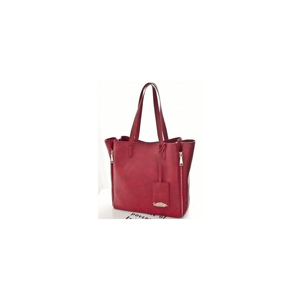 Elegancka Torebka Shopper Bag czerwona HIT 413