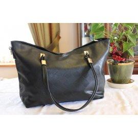 Damska Torebka Shopper Bag A4 Trapez Czarna 014