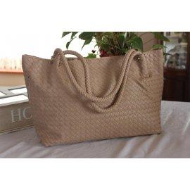 Damska Torebka Shopper Bag A4 Worek Beżowa