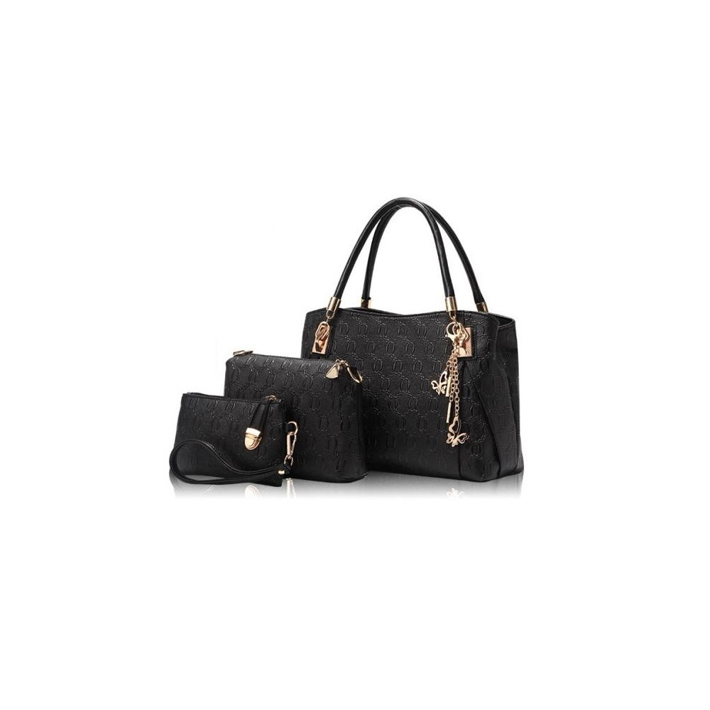 4w1 Torebka Shopper Bag + organizer CZARNA