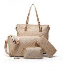 4w1 Shopper Bag A4 Torebka Portmonetka Złota
