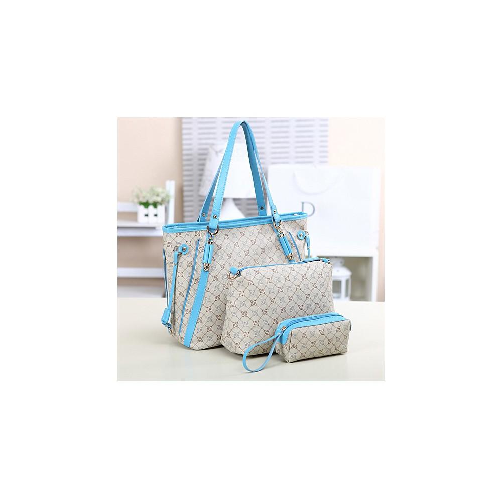 3w1 Torebka A4 Shopper Bag + organizer BEŻOWA 363