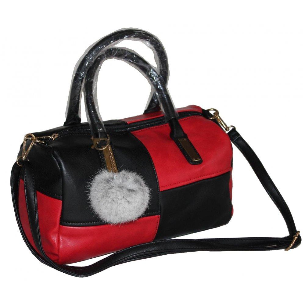 torebka czarno czerwona