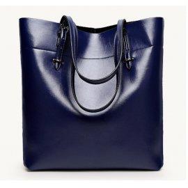 Damska Torebka Shopper bag Worek A4 Kuferek Niebieska