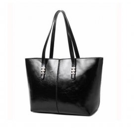 Damska Torebka Shopper Bag A4 Kuferek Czarna