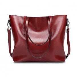 Damska Torebka Shopper Bag Kuferek Czerwona