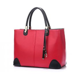 Torebka Shopper Bag A4 Aktówka Czerwona