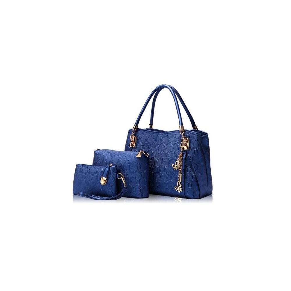 4w1 Torebka Shopper Bag + organizer NIEBIESKA