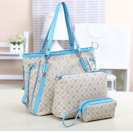 3w1 Torebka A4 Shopper Bag + organizer BEŻOWA