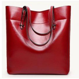 Damska Torebka Shopper bag Worek A4 Kuferek Czerwona