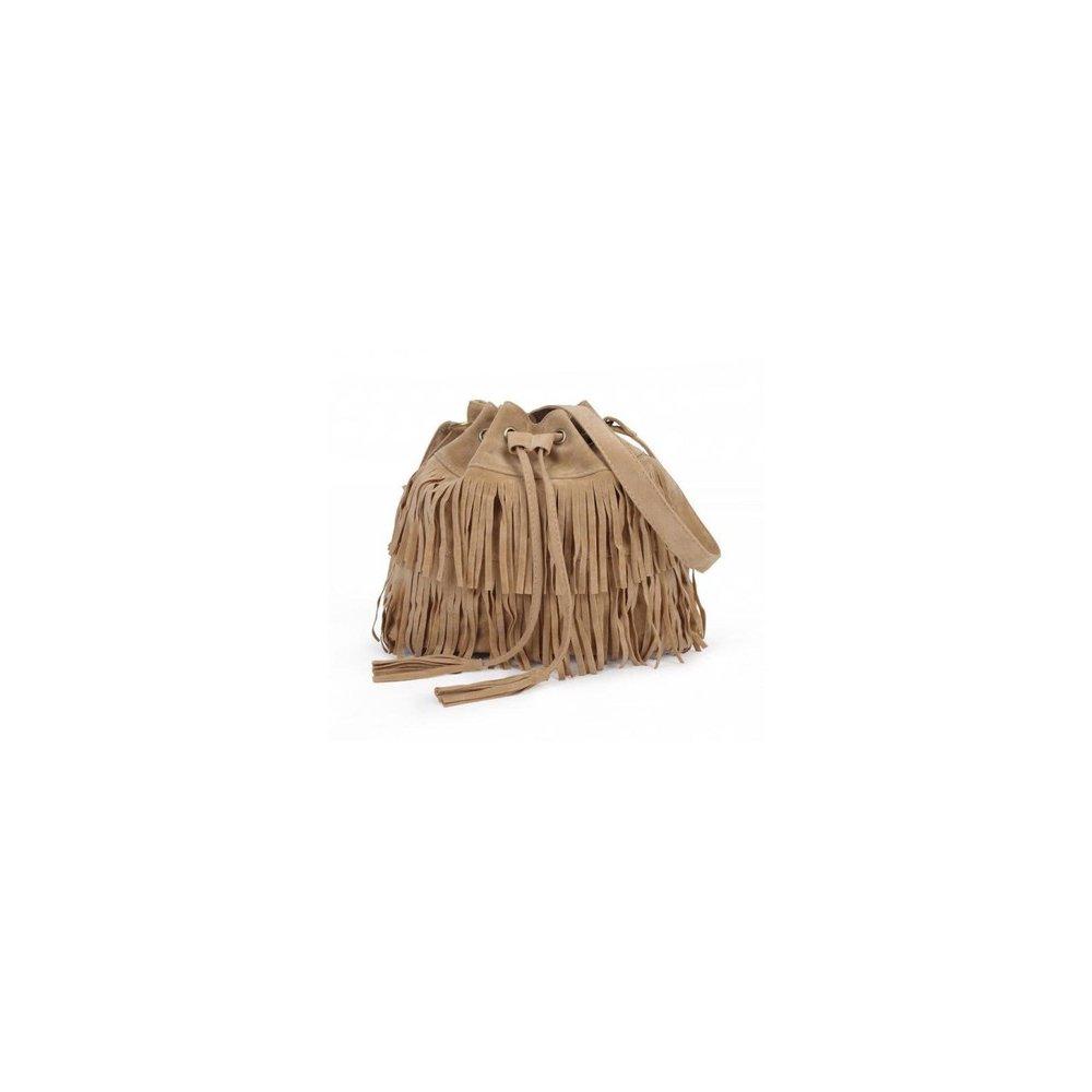 Oryginalna Torebka z frędzlami brązowa 100