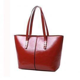 Damska Torebka Shopper Bag A4 Kuferek Czerwona
