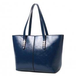 Damska Torebka Shopper Bag A4 Kuferek Granatowa