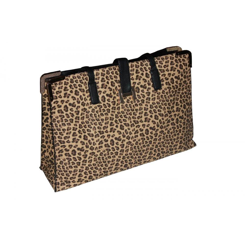 Duża Torebka Damska Cętki Leoparda 320