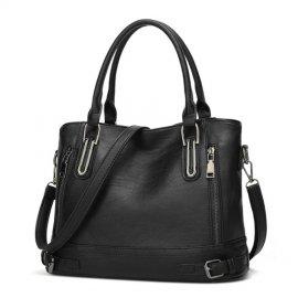 Damska Torebka Kuferek Shopper Bag Vintage CZARNA
