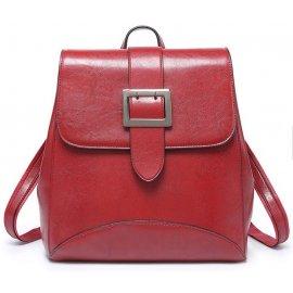 2w1 Damski Plecak Plecaczek Torebka Vintage Czerwony