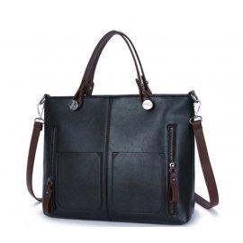 Damska Torebka Aktówka Shopper Bag A4 Czarna
