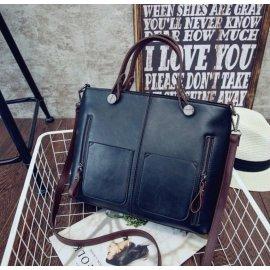 Damska Torebka Aktówka Shopper Bag Czarna