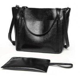 Torebka Kuferek Shopper Bag + saszetka Czarna